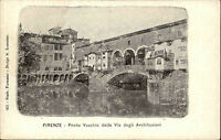 Florenz Firenze Italien Italia Toskana AK ~1900 Ponte Vecchio Arno Brücke Fluß