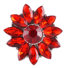 Fits Ginger Snap Red Crystal Flower SNAPS Magnolia Vine JEWELRY Bracelet 18mm