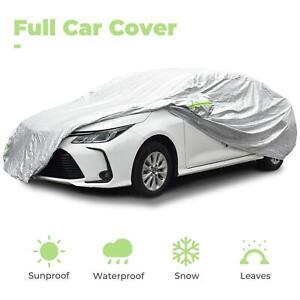 Car Cover Waterproof Sun UV Snow Dust Rain Resistant Protection For All Sedan US