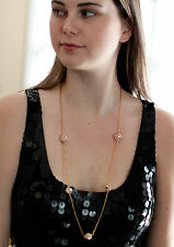 Kate Spade lady marmalade CRYSTAL disco ball pave sparkly necklace LONG gold