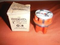 Ridgid Pipe Threading Die Head 1/8 Inch for O-R Drop Head Made in USA