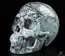"5.0"" HISO JASPER Carved Crystal Skull, Realistic, Crystal Healing"