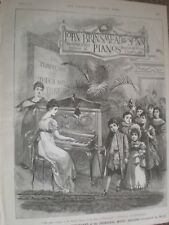 John Brinsmead Piano children palm art advert 1889 ref AR