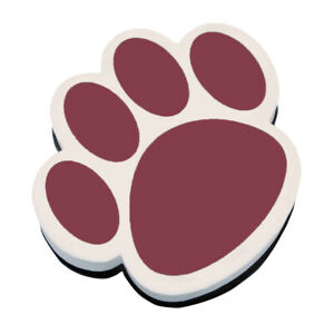 Ashley Productions Magnetic Whiteboard Eraser, Maroon Paw