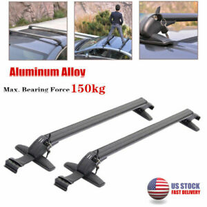 2×Aluminum Car SUV Roof Rail Luggage Rack Baggage Carrier Cross Stand Anti-theft