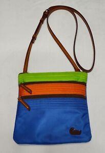 Dooney & Bourke Multicolor Nylon Triple Zip Crossbody Purse