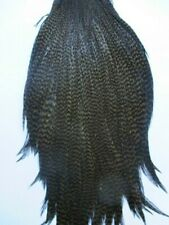 metz neck cock cape grizzle dyed dark olive hackle feathers