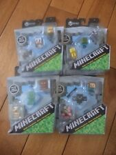 Minecraft Stone Series 2 set of 12 Mini Figures in 3 Pack NEW Sealed