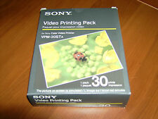 Confezione 30 fogli SONY Video Printing Pack stampa COLORI mm 100x140 VPM-30STA