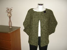 NEXT Wollponcho Cape S M 36 38 Cardigan Wolle Alpaka Poncho Sweater Strickjacke