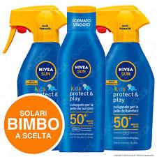 Nivea Sun Kids Protezione Solare Alta 30 Molto Alta 50+ Protect & Play a Scelta