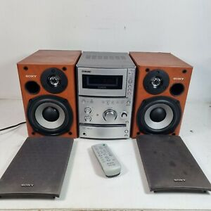 Sony CMT-CPX11 Micro HI-FI Bookshelf Stereo System With remote, CD Tape Radio