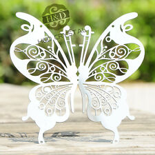 10PCS Silver Butterfly Window Pendant Suncatcher Hanging Metal Prisms Home Decor