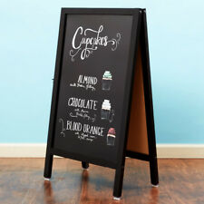 "A-Frame Restaurant Cafe Marker Board Sidewalk Sign - Black Wood - 20"" x 34"""