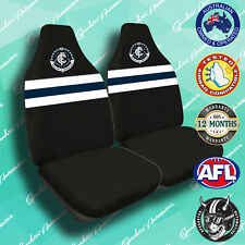 NEW! CARLTON FC FRONT CAR SEAT COVER, OFFICIAL AFL, AIRBAG COMPATIBLE