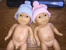 "Lot of Anatomically Correct Baby Dolls - Twins - 13"" Boy & Girl - Lifelike Vinyl"