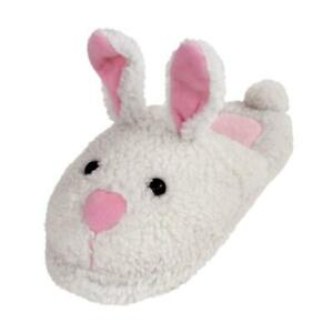 Classic Bunny Slippers -Sizes for Men, Women & Kids - White and Pink House Shoes
