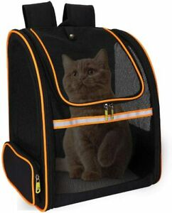 Pet Carrier Backpack for Cat, Puppy, Rabbit, Small Dog, Water Resistant, Black