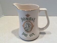 Bombay Dry Gin advertising pitcher, Staffordshire Pottery (England)