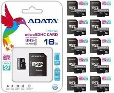 ADATA MicroSD 16GB CLASS 10 MICRO SDHC 50MB/s HD VIDEO Memory Card Adapter Lot10
