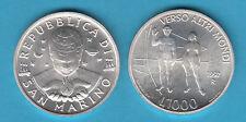 SAN MARINO 1997 LIRE 1000 SILVER ARGENTO IL 3° MILLENIO fior di conio UNC SPACE