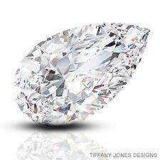 1.12ct H-SI3 VG-Cut Pear Shape AGI 100% Natural Diamond 8.35x5.66x3.90mm
