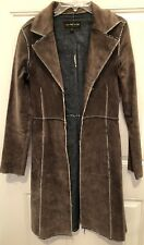 Jane Doe womens long leather jacket XS Unfinished Seams Cute And Fun