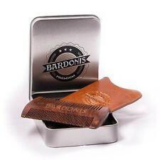 BARDONIS Bartkamm aus Sandelholz mit Echtleder-Etui in hochwertiger Metallbox