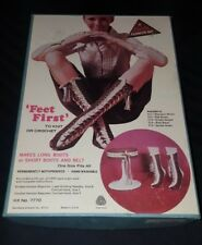 Vtg 70's Bucilla Fashion Kit Knit or crochet Boot Socks Belt Hippy Wool # 7770