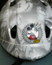 Mickey Mouse and Friends Silver and White Bike Bicycle Helmet