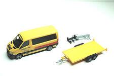 """Herpa 091855 MB Sprinter Bus mit PKW-Transportanhänger """"ADAC Rückholdienst"""""""
