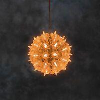 Konstsmide 6505-850 LED Lichterball mit Funkeleffekt orange Fensterdeko 50 LEDs