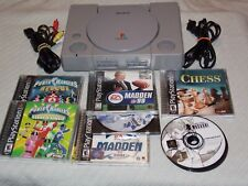 Sony PlayStation 1 SCPH-7001 NTSC U/C Gray Console ONLY with Thirteen Games ASis