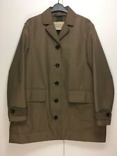 Burberry Brit taupe brown khaki short single breasted cocoon trench coat 8 to 10
