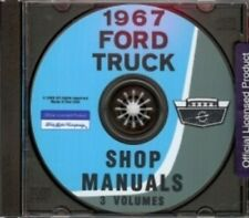 FORD 1967 Bronco, Bus, F100 thru F350 Pick Up & Heavy Duty Truck Shop Manual CD