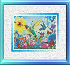 HUMMINGBIRD MAGIC GARDEN~DELICA BEAD PEYOTE PATTERN ONLY