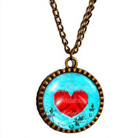 The Legend Of Zelda Necklace Heart Container Ocarina of Time Pendant Jewelry