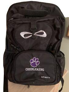 Nfinity Classic Backpack Cheer Bag Purple Paw print  Black