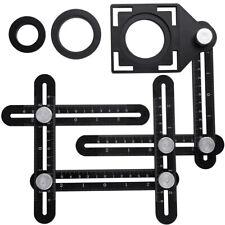 6Folding Multi Angle Ruler Measuring Tool Practical Adjustable Tile Hole Locator