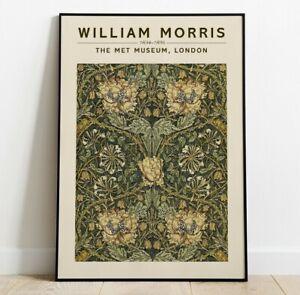 William Morris Fine Art Print, William Morris Exhibition Poster, Wall Art