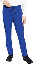Med Couture Peaches 8706 Women's Flat Front Scrub Pant, Nwt, Royal Blue, Small