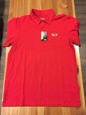 NWT / Mountain Hardwear Fairland polo Shirt / Mens Medium / Red / $45