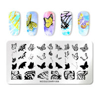 NICOLE DIARY Rectangle Overprint Stamping Plates Nail Stamp Image Plate Decors