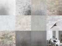 Industrial Grey Stone Concrete Wallpaper Distressed Metallic Vinyl Paste Wall