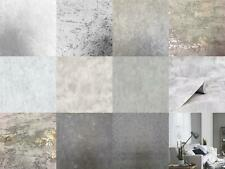 Industrial Grey Stone Concrete Wallpaper Distressed Metallic Vinyl Paste Wall