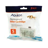 Aqueon Small Cartridge 3pk Replacement filter cartridge for MiniBow&Quitflow E10
