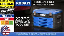 Kobalt 227-Piece Standard (SAE) and Metric Polished Chrome Mechanic's Tool Set