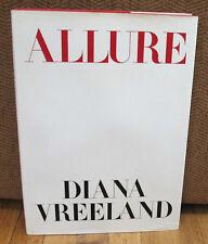 Diana Vreeland Allure Original 1980 1st ED HC DJ Cecil Beaton Richard Avedon
