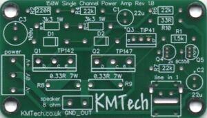 Low Cost 150 Watt mono Power Amplifier Darlington TIP41 TIP142 TIP147 DIY PCB.
