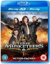 Blu Ray THE THREE MUSKETEERS tru 3D and 2D. Logan Lerman. Brand new sealed.